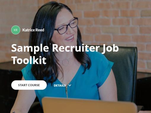 eLearning – Recruiter Job Toolkit