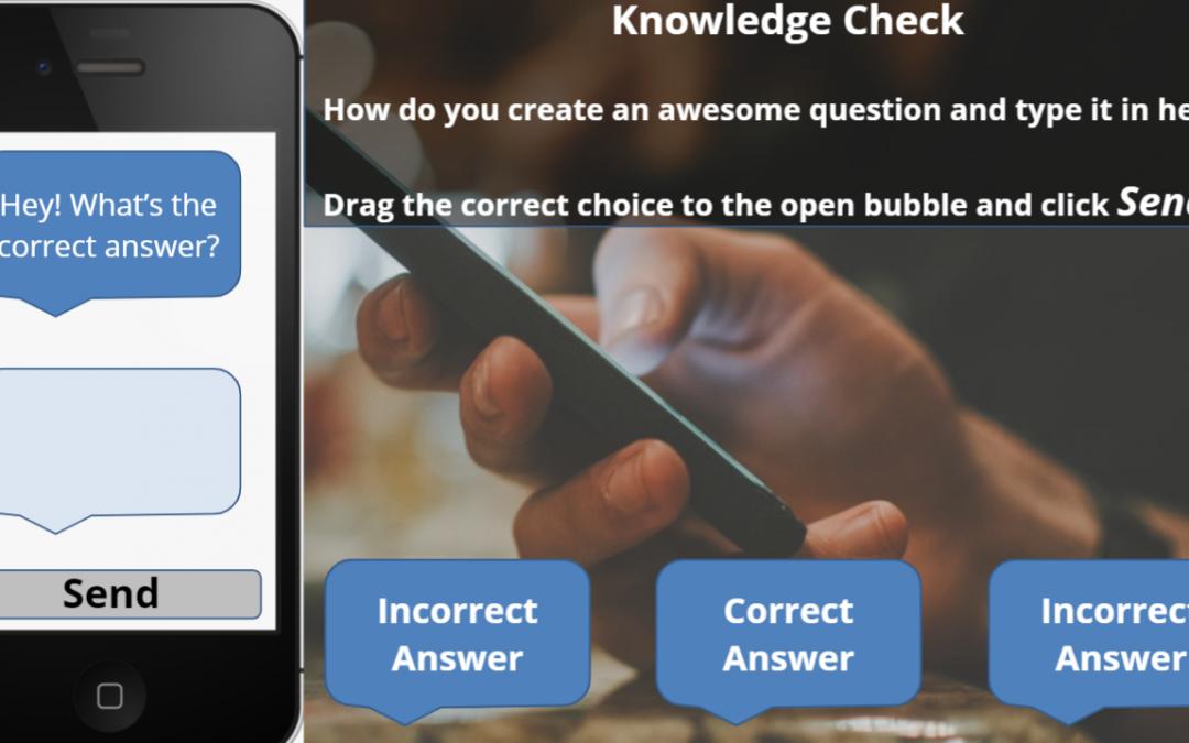 eLearning – Text Quiz